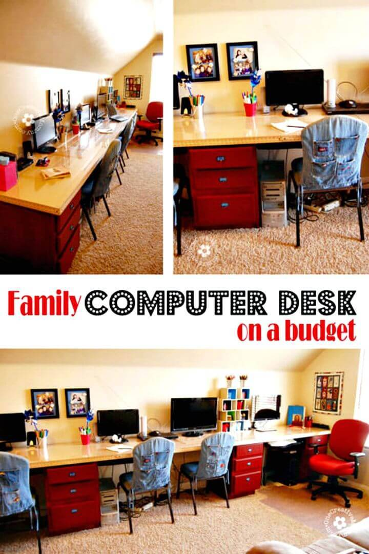 Easy DIY Kids Computer Desk Station Tutorial