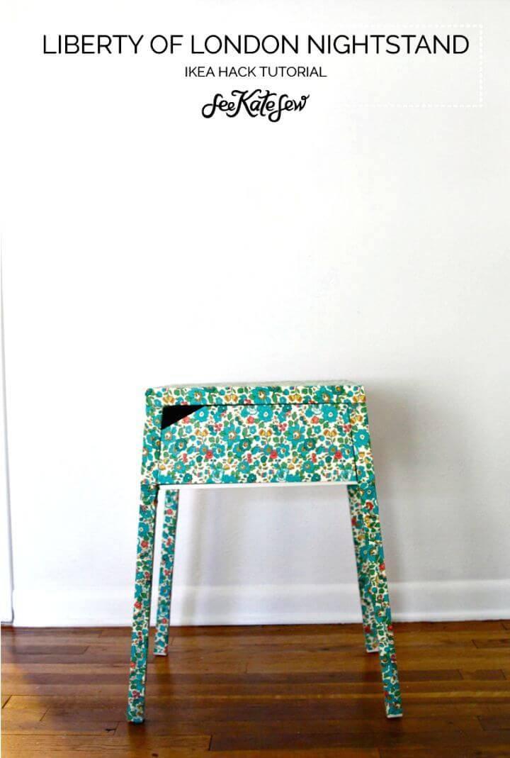 Easy DIY Liberty Of London Floral Nightstand Ikea Hack Tutorial
