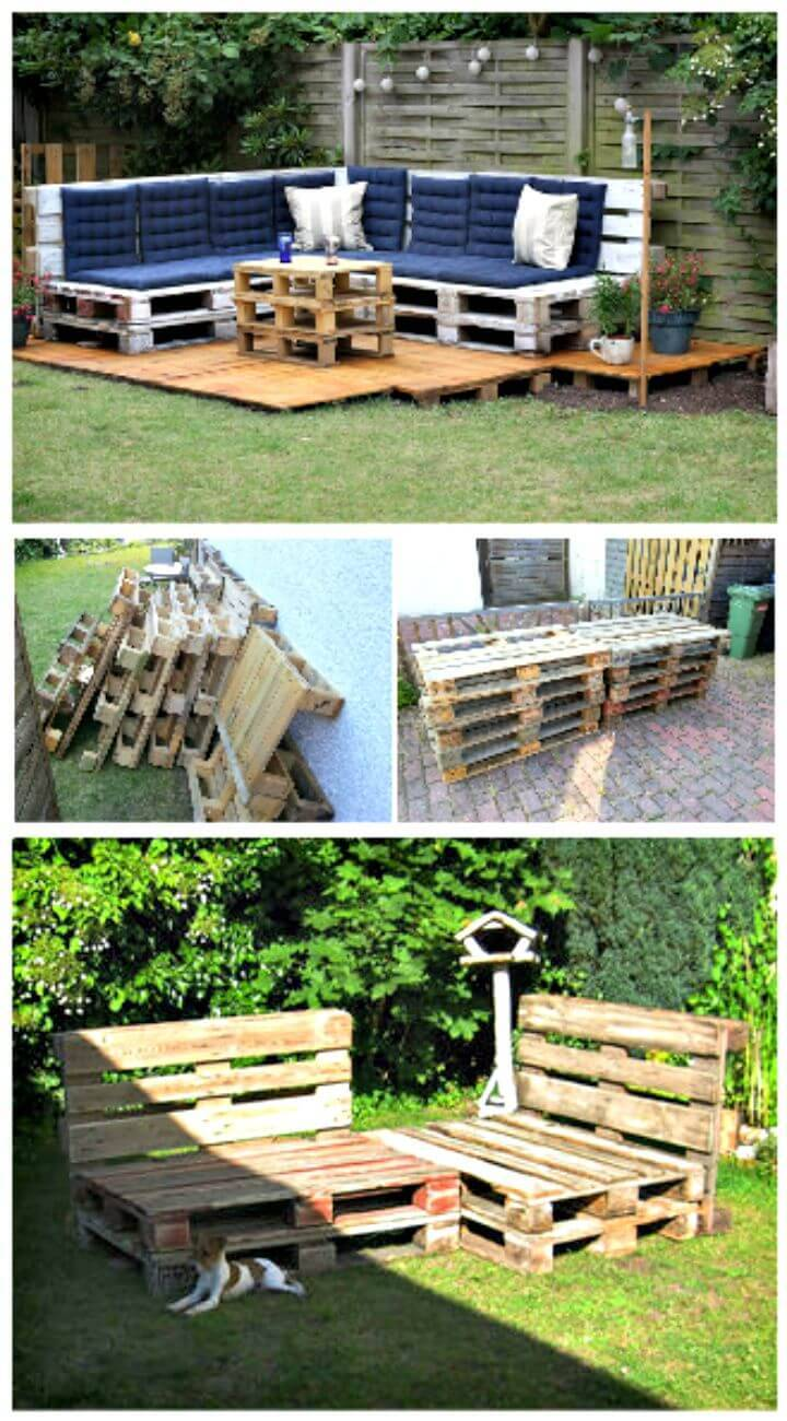 Easy DIY Low Budget Pallet Outdoor Lounge Step By Step Tutorial