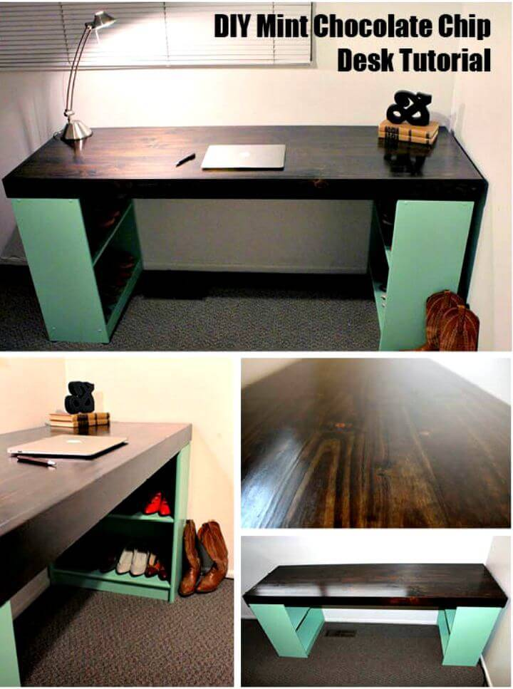 Easiest DIY Mint Chocolate Chip Desk Tutorial