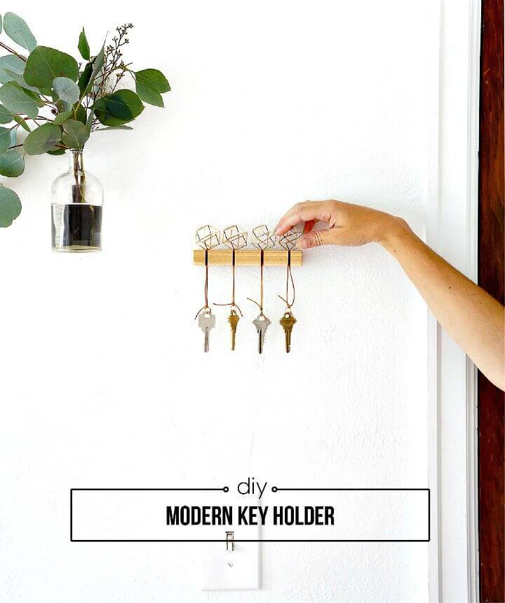 Modern DIY Key Holder Tutorial