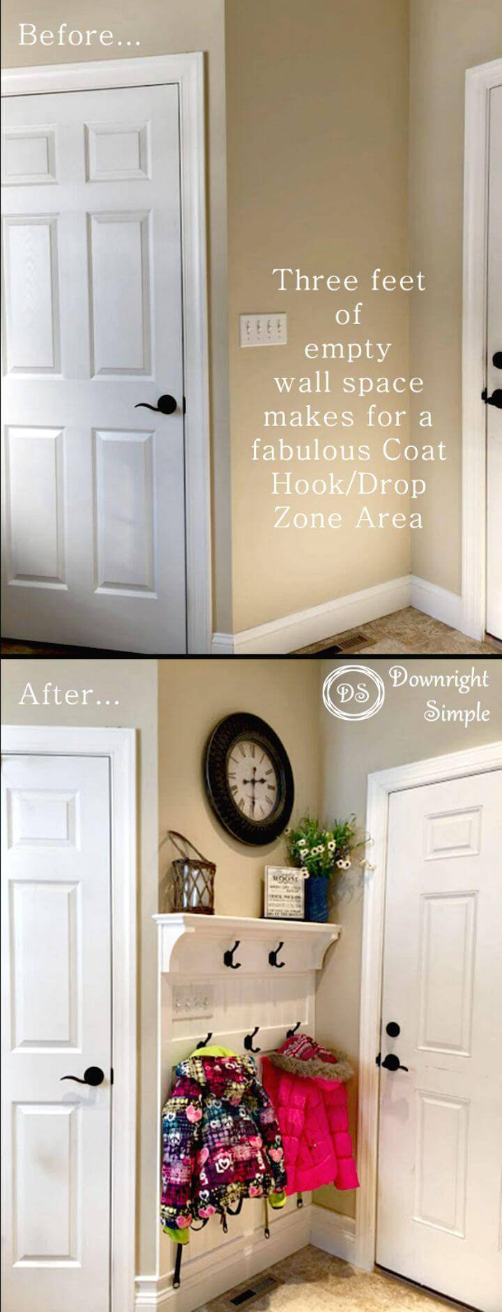 Easy How to DIY Mudroom Entryway Tutorial