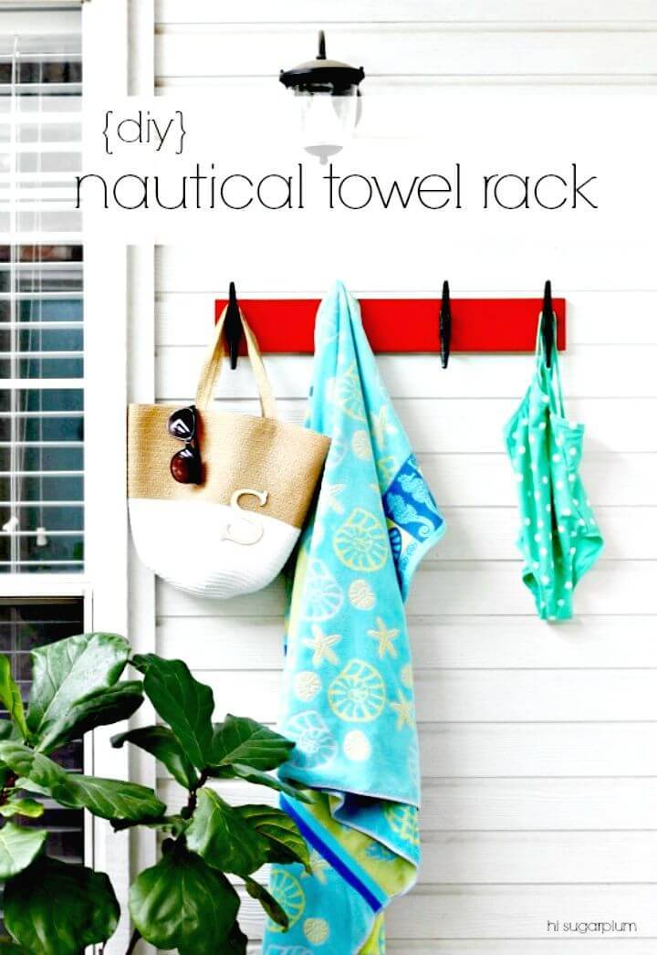 Easy DIY Nautical Towel Rack Tutorial