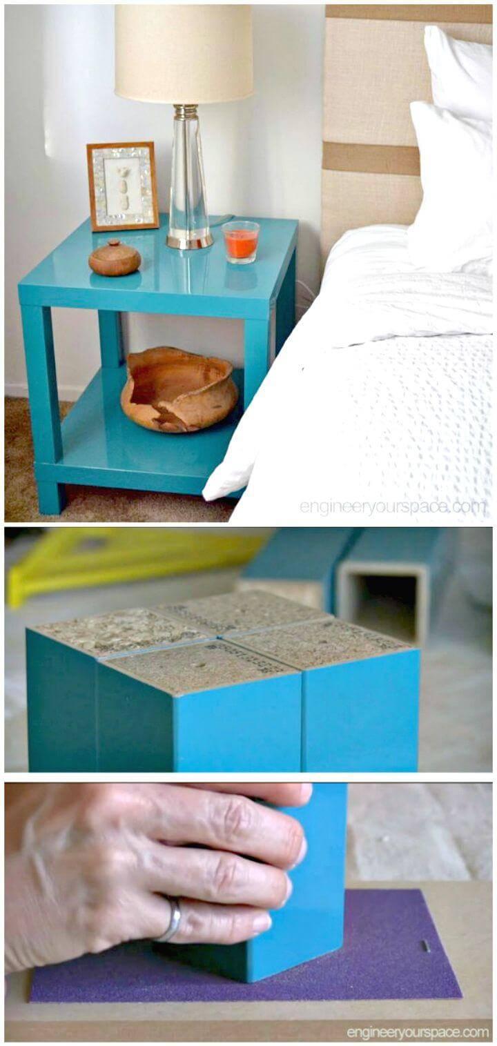 Easy DIY Nightstand Ikea Lack Table Hack Tutorial
