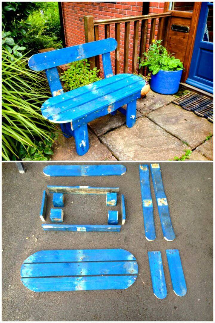 Easy DIY Pallet Garden Bench Tutorial