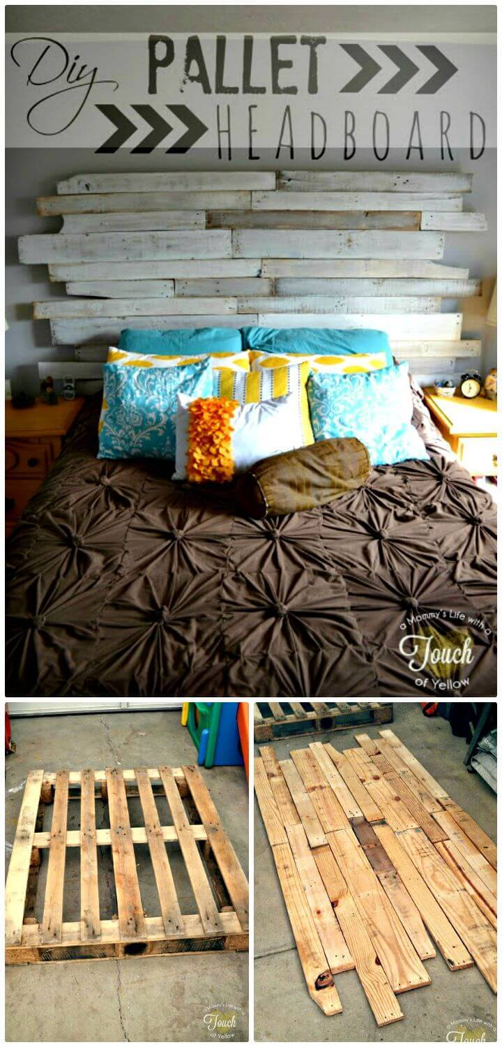 Easy How to DIY Pallet Headboard Tutorial