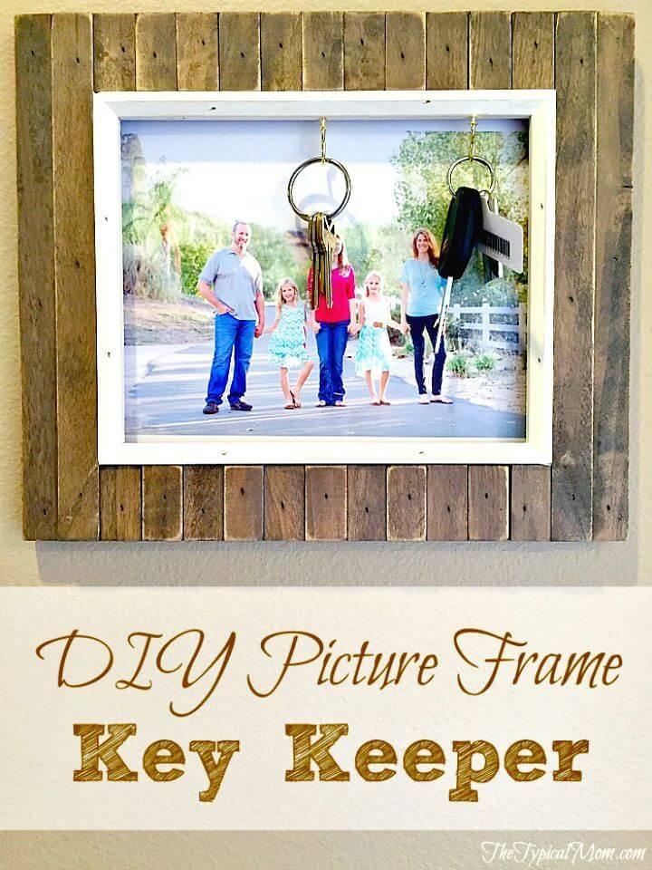 Easy DIY Picture Frame Key Holder Tutorial