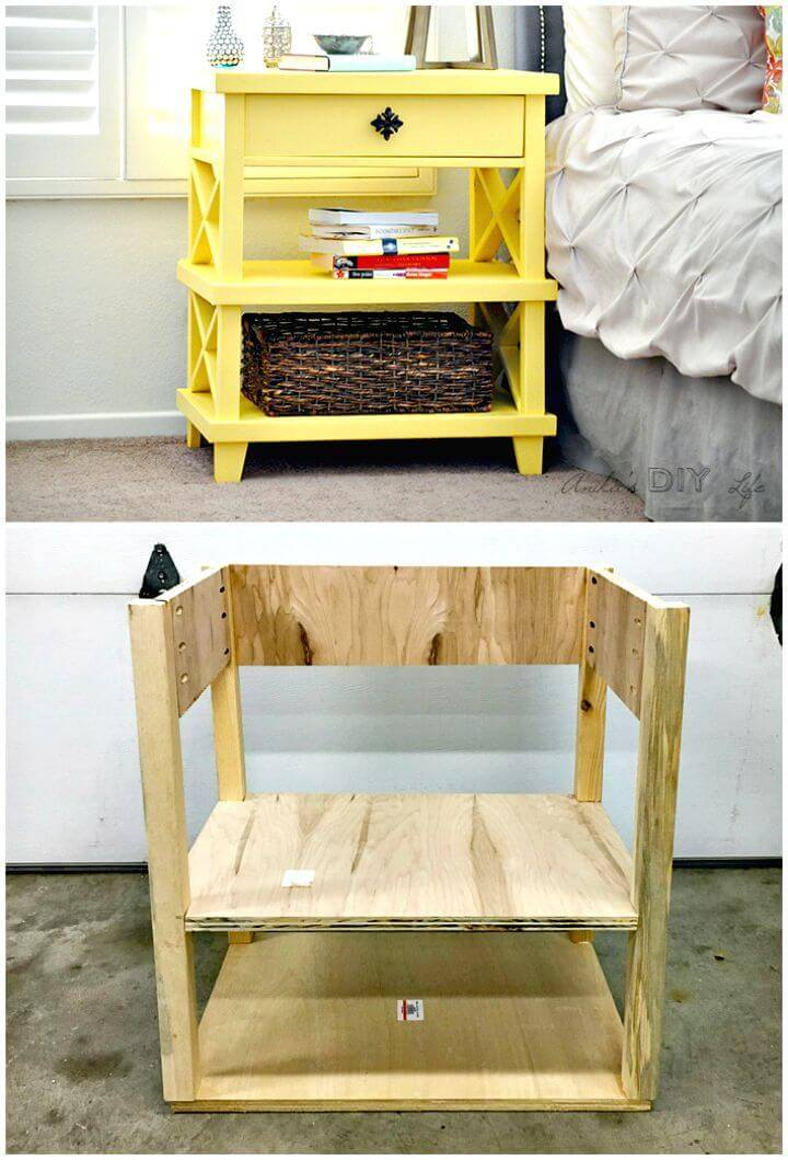 How To Build Pottery Barn Inspired Nightstand Tutorial