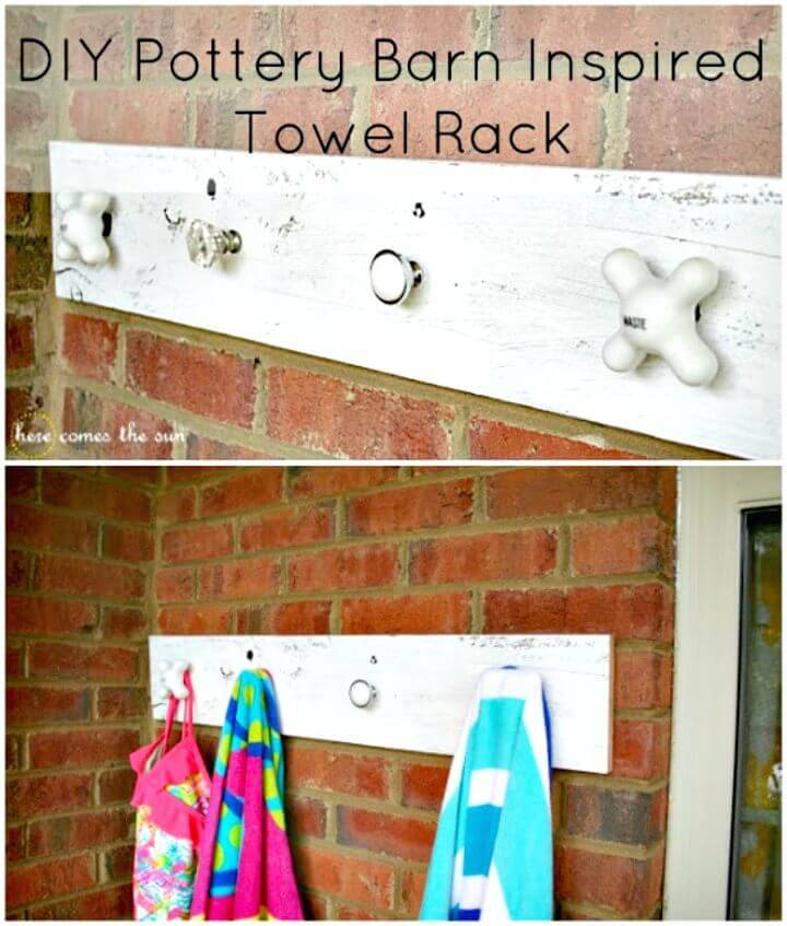 DIY Pottery Barn Inspired Towel Rack Tutorial