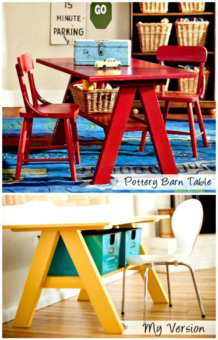 Easy DIY Pottery Barn Kids Desk Tutorial