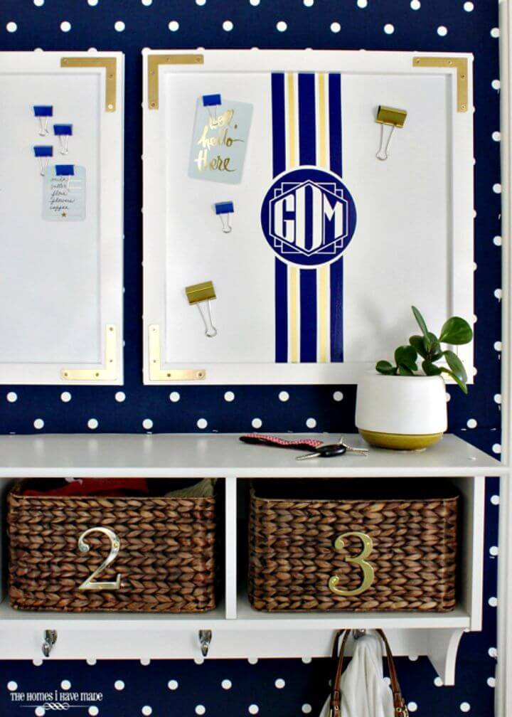 Easy DIY Pretty & Preppy Magnetic Memo Boards For Your Entryway Tutorial