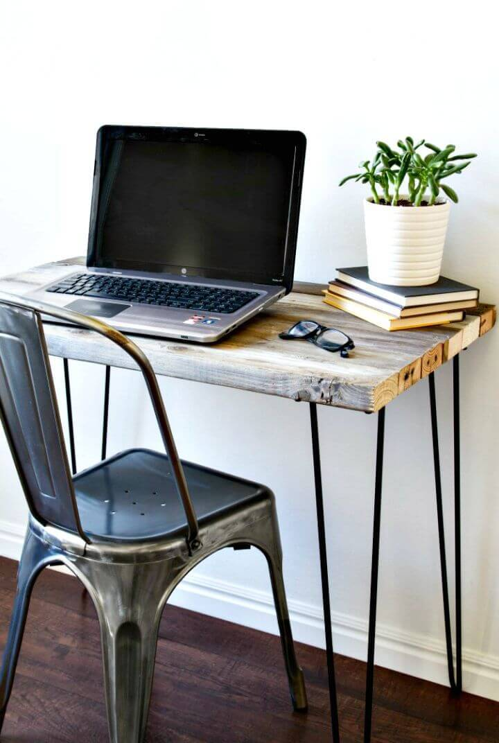 DIY Reclaimed Wood Desk Tutorial
