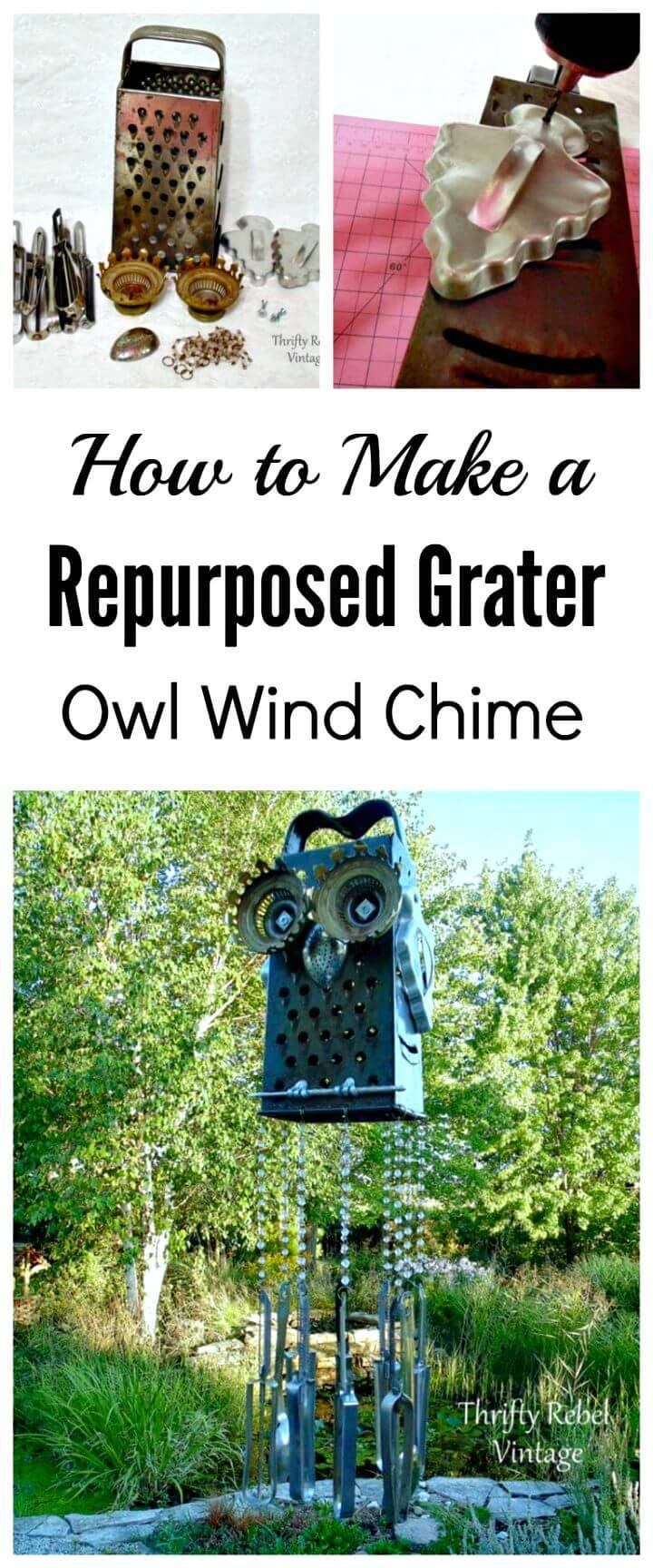 How To Re-purposed Junk Owl Wind Chime Tutorial