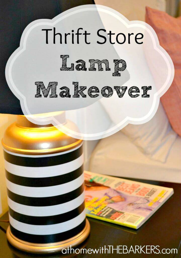 DIY Thrift Store Lamp Makeover Under 5 $ Tutorial