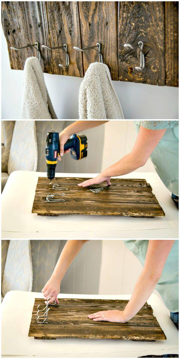 DIY Towel Rack From Free Pallet Wood Tutorial
