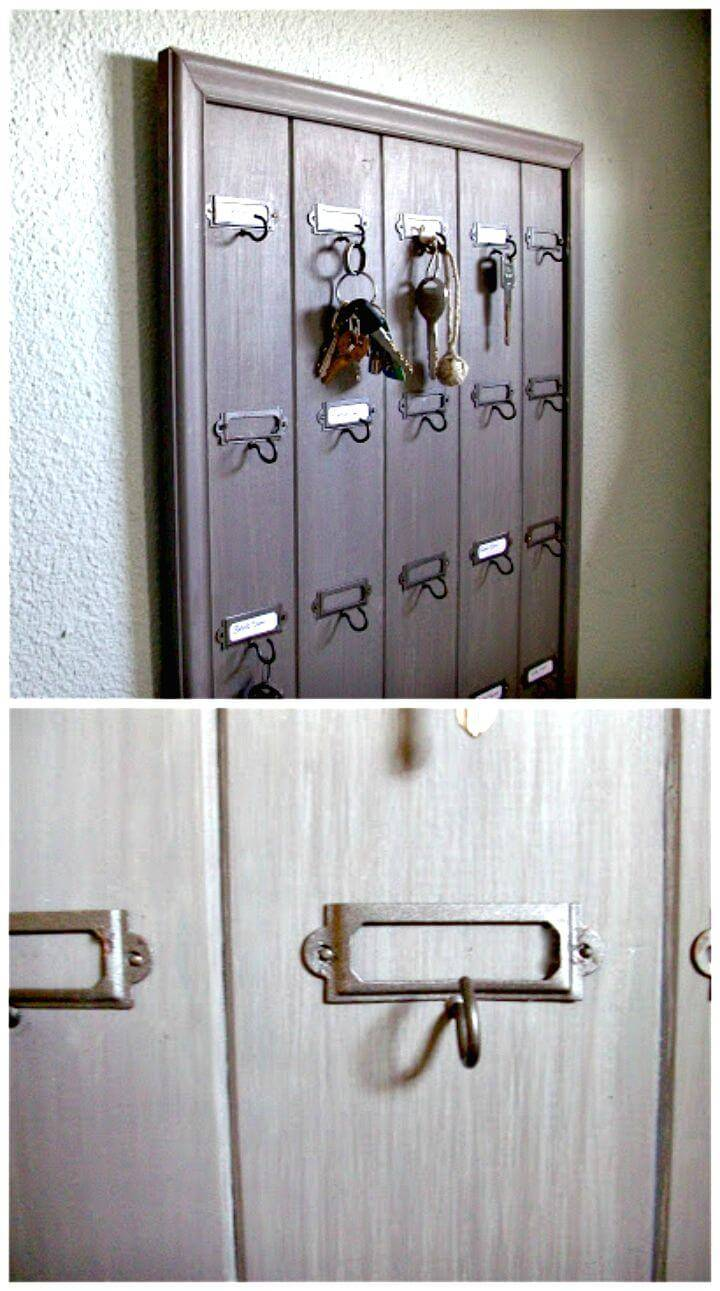 Easy DIY Wall Mounted Wooden Hotel Key Rack Tutorial
