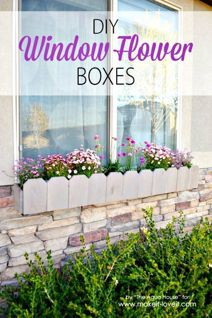 Easy DIY Window Flower Boxes Tutorial