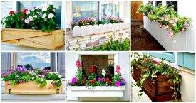 DIY Window Planter Box Ideas - 14 Easy Step by Step Plans - DIY Crafts