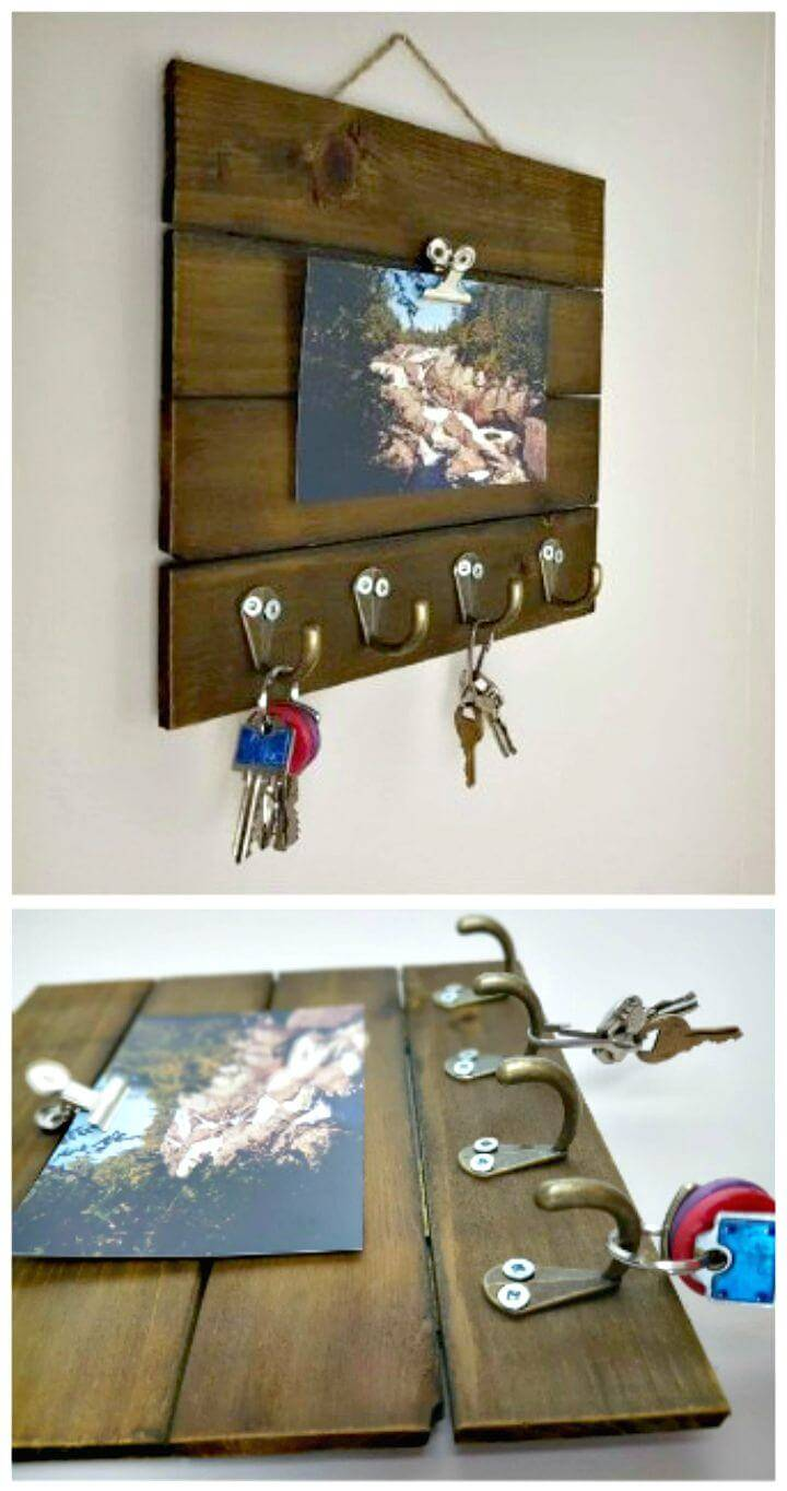 DIY Wooden Key Rack Tutorial