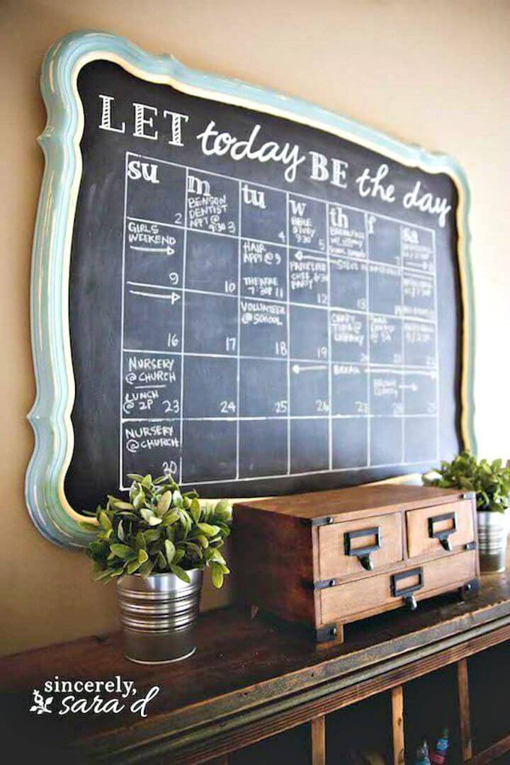Easy How to Build Chalkboard Calendar Entryway Tutorial