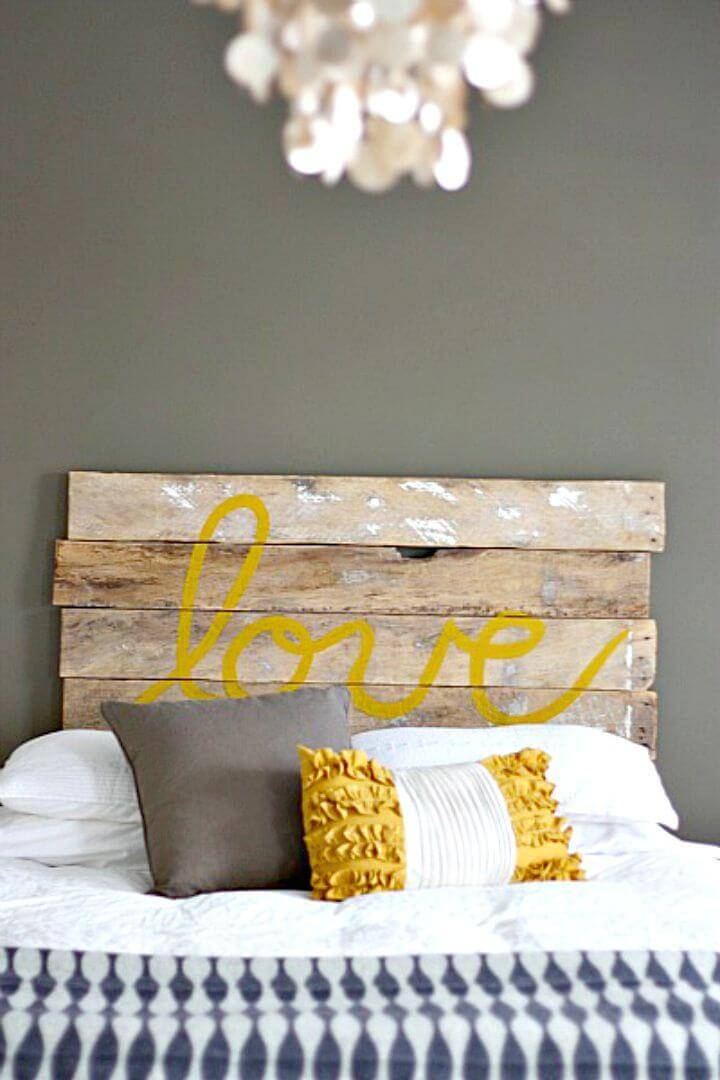 Easy How to Build Your Own 'love' Headboard - DIY