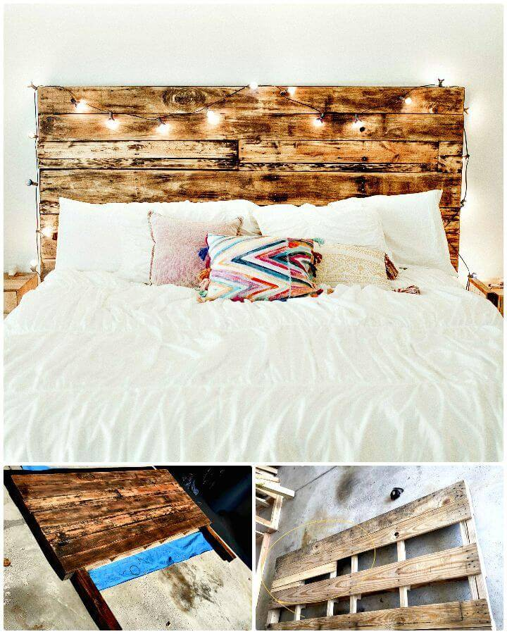 Easy How to Build Your Own Pallet Headboard - DIY