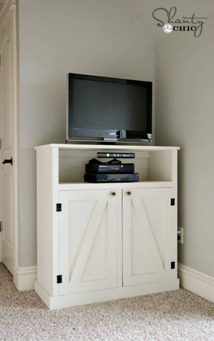 Easy DIY Barn Door TV Console Tutorial