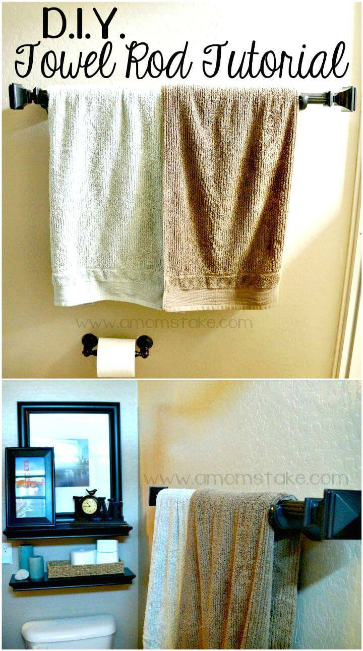 Easy DIY Bathroom Towel Rack