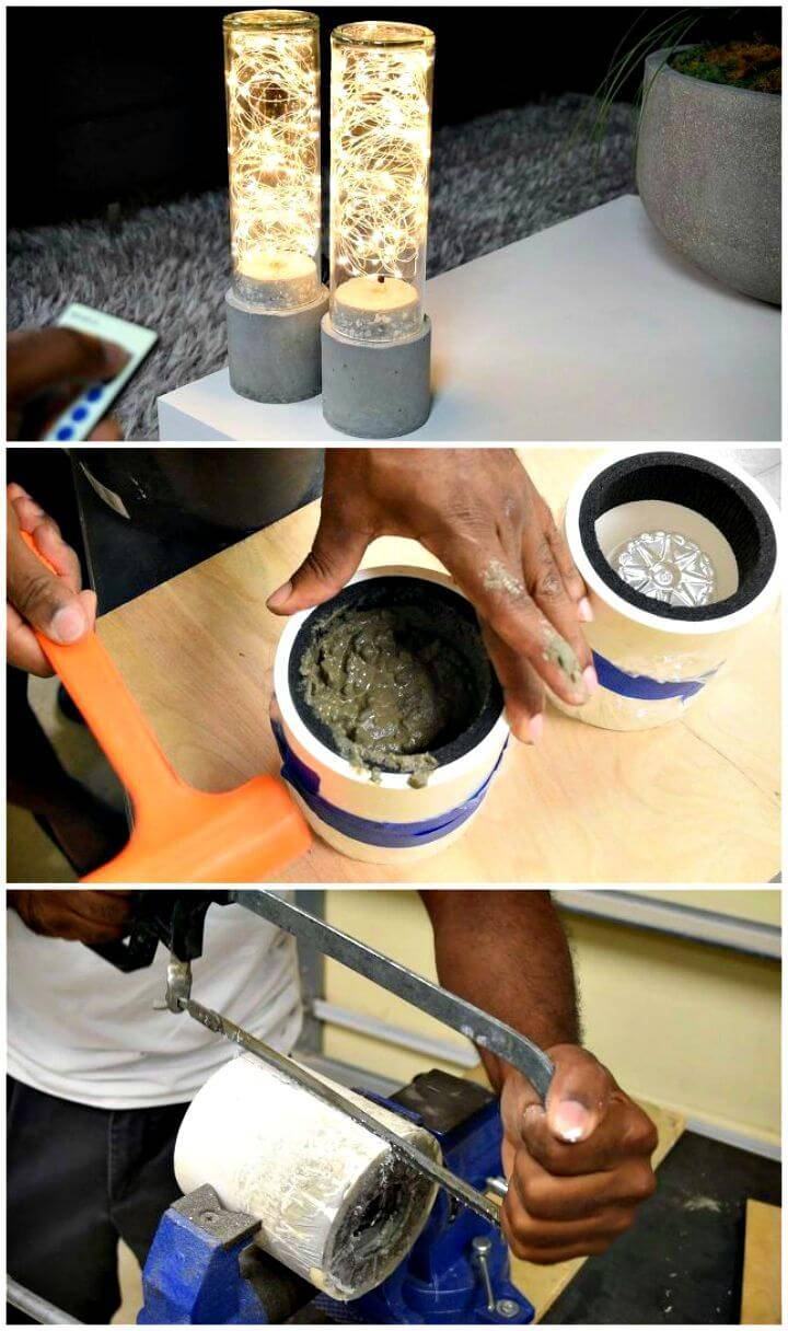 Easy DIY Concrete Lamp Tutorial