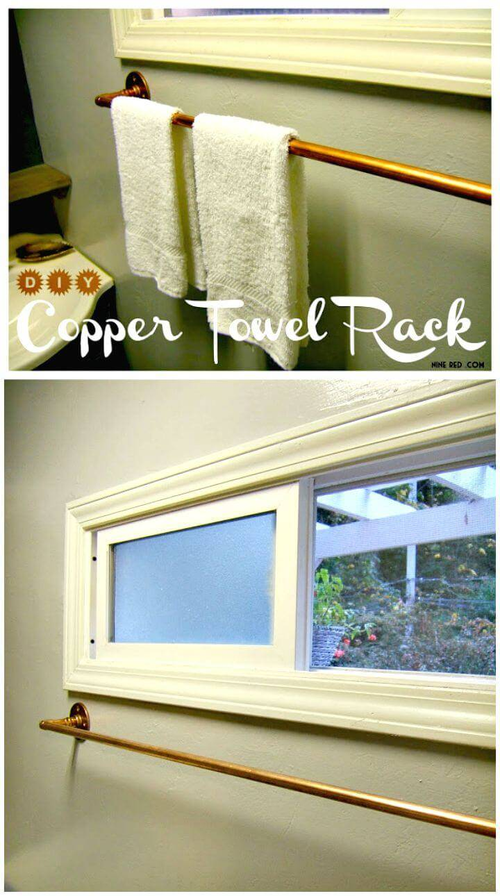 Easy DIY Copper Towel Rack Tutorial