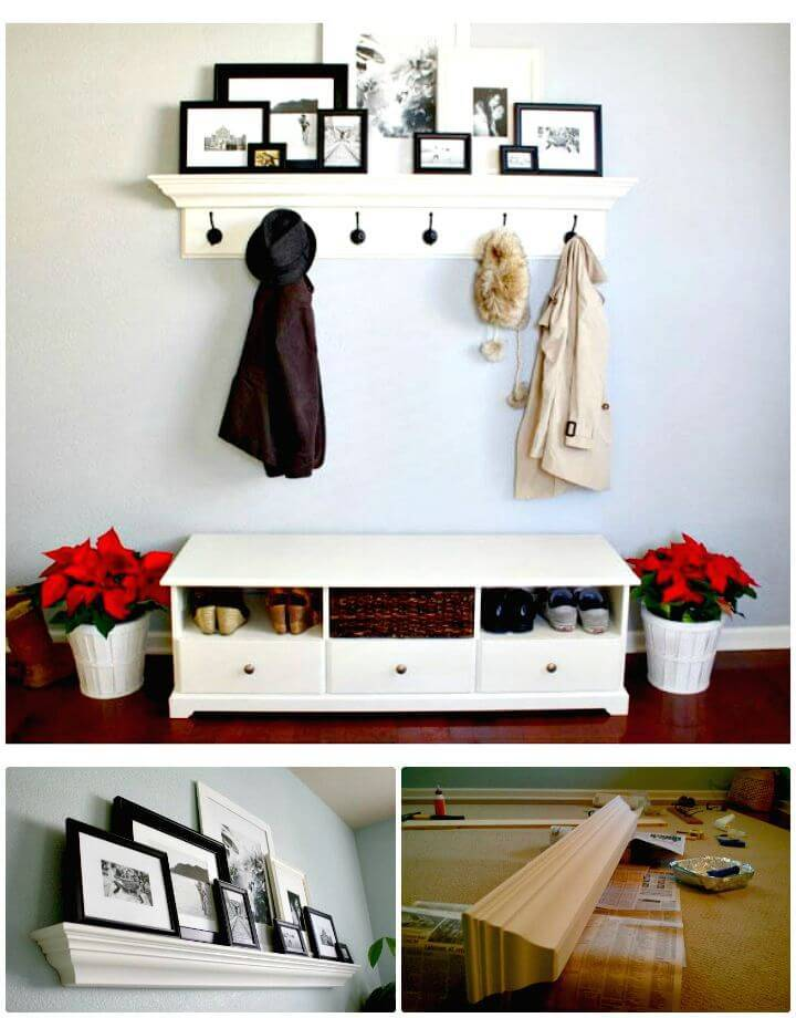 Easy DIY Entry Way Mantel Idea