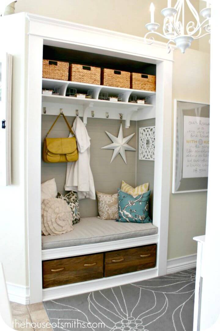 Easy Build Your Own Entryway Closet Makeover Tutorial