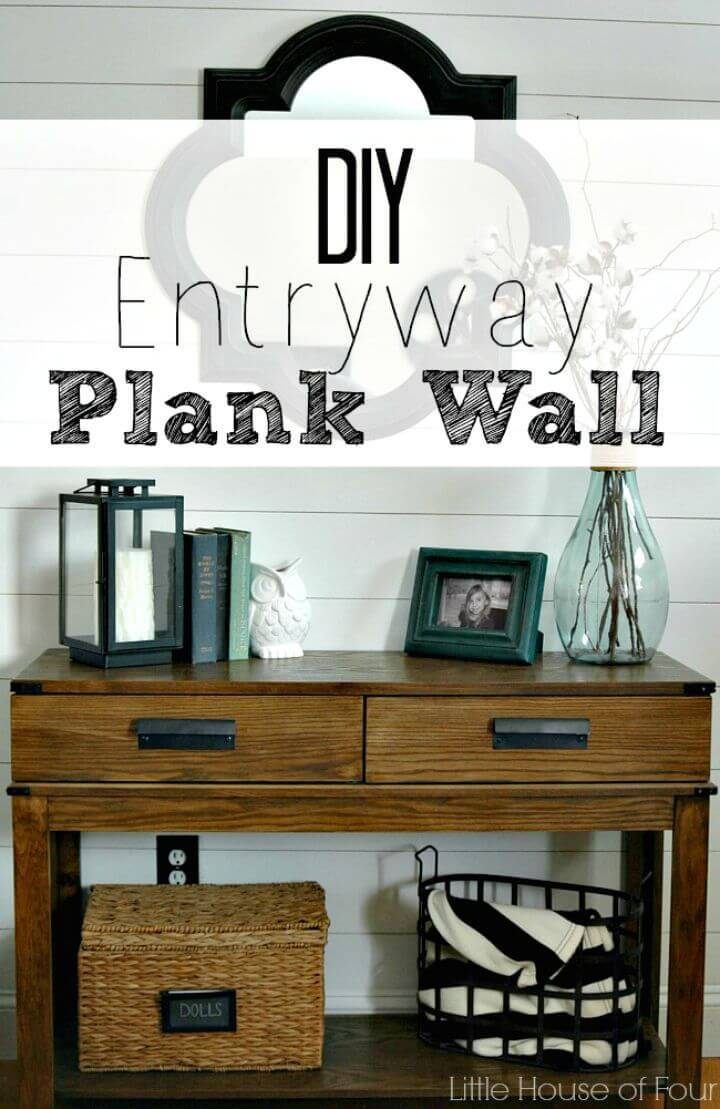 Easy DIY Entryway Plank Wall Tutorial