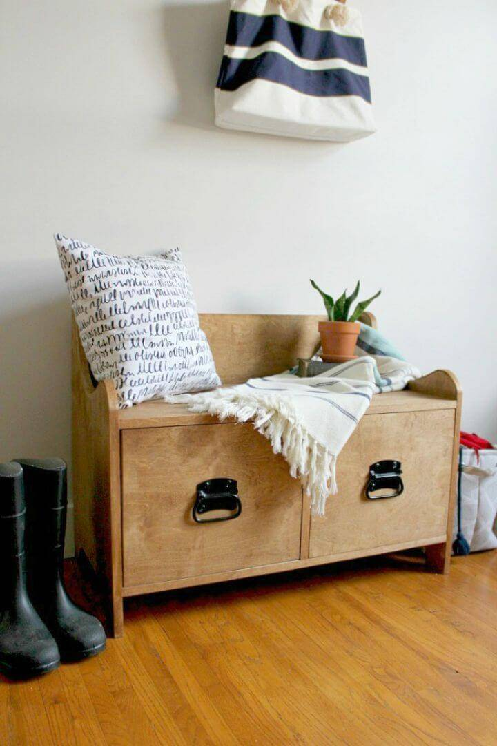 Easy DIY Entryway Storage Bench Tutorial