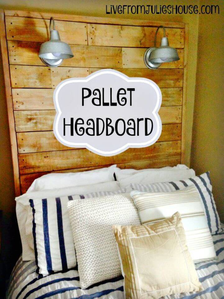 Easy DIY Giant Pallet Headboard With Lights Tutorial