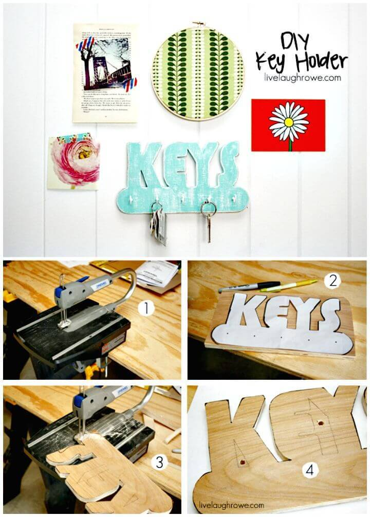Easy DIY Key Holder Step By Step Tutorial
