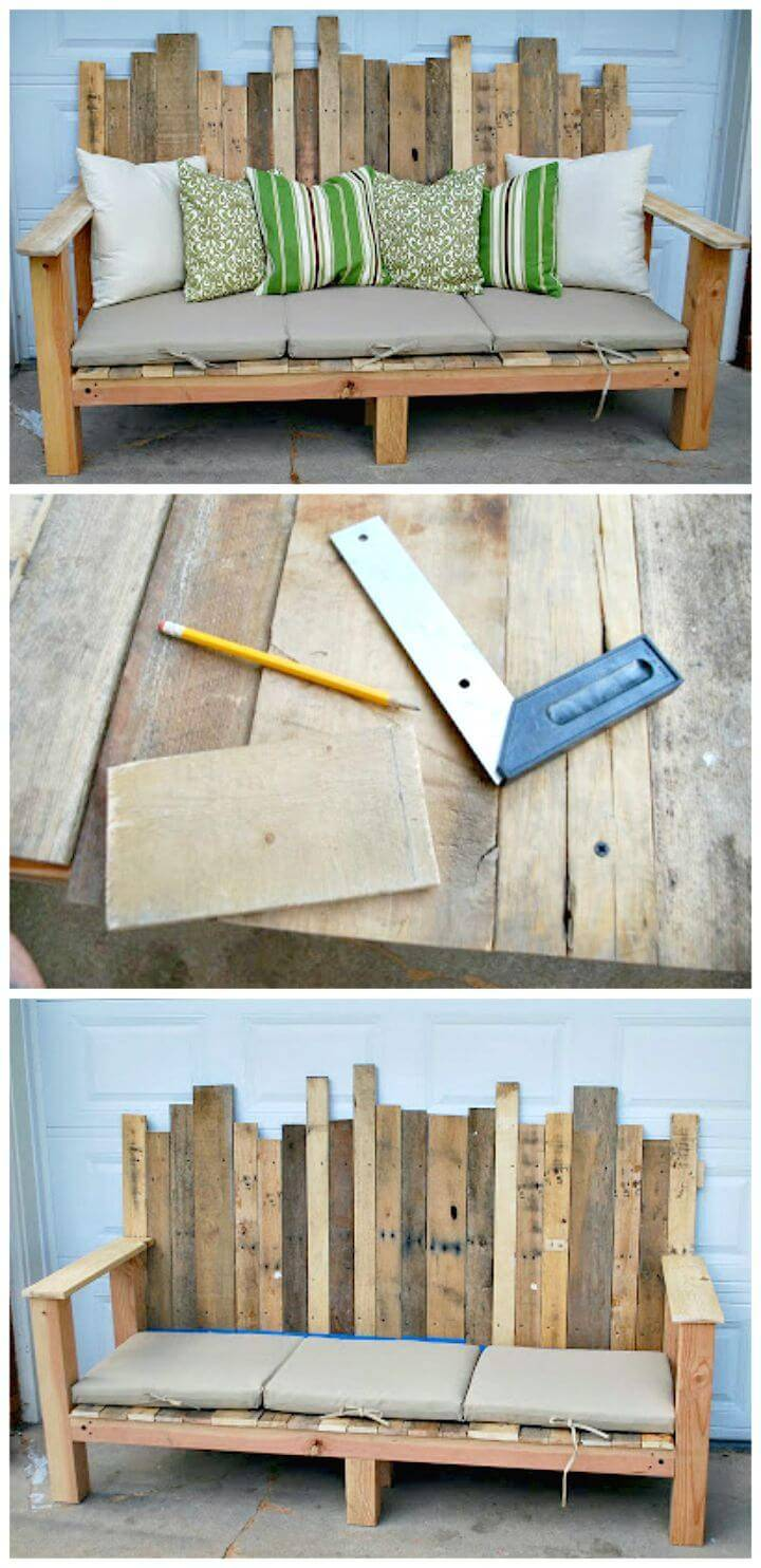 Easy DIY Outdoor Pallet Sofa And An Unexpected Guest Tutorial