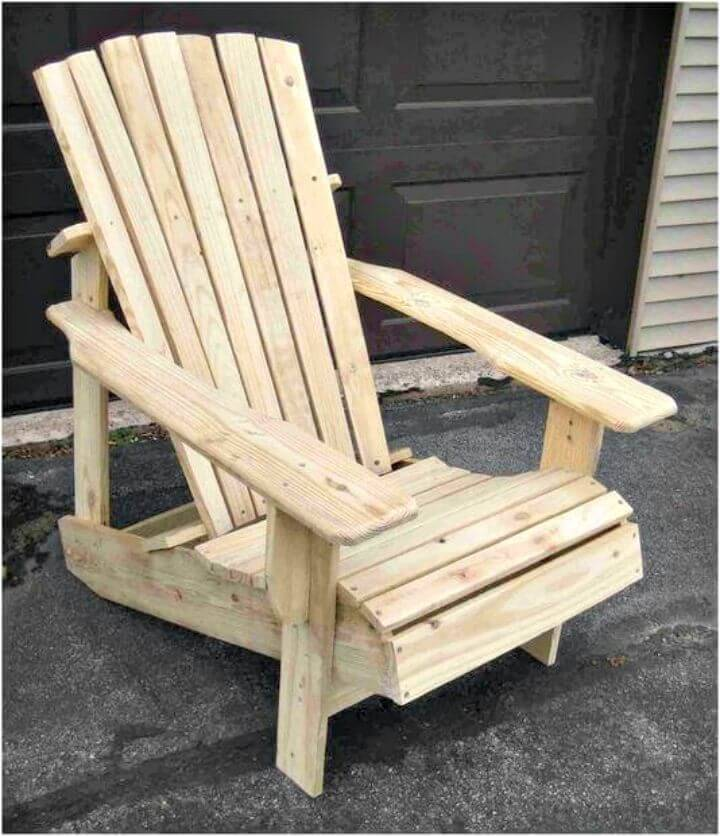 Easy and Simple DIY Pallet Adirondack Chair Step by Step Tutorial