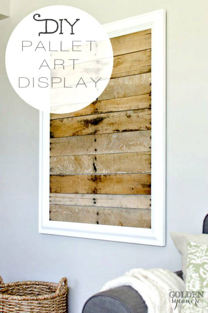 Easy How to DIY Pallet Art Display Tutorial