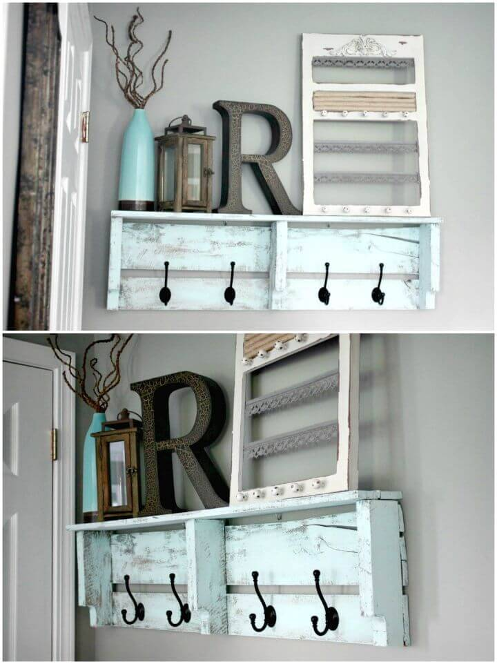 Easy DIY Pallet Coat Rack Tutorial