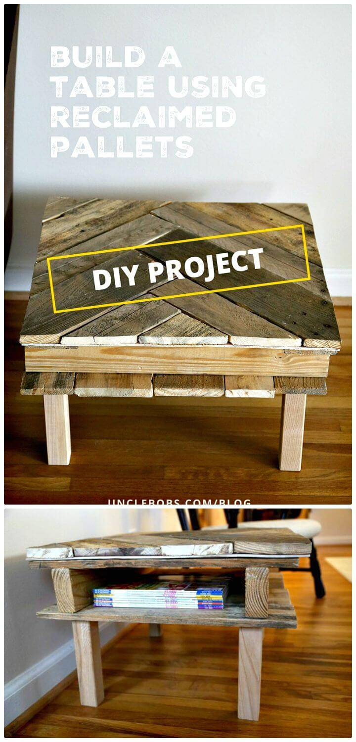 Easy DIY Pallet Coffee Table for Under $25