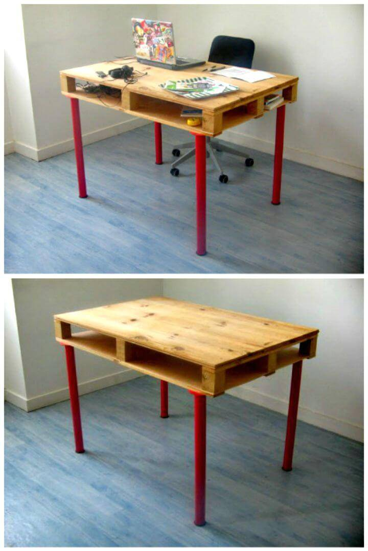 Easy DIY Pallet Desk Tutorial