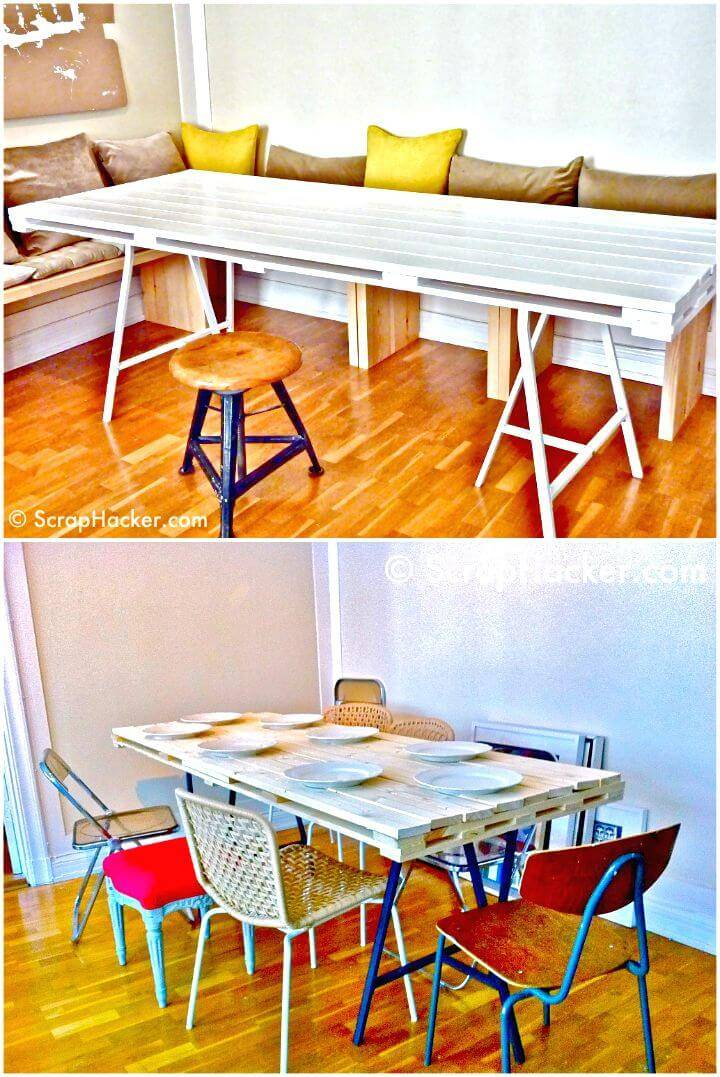 Easy How to DIY Pallet Dining Table Tutorial