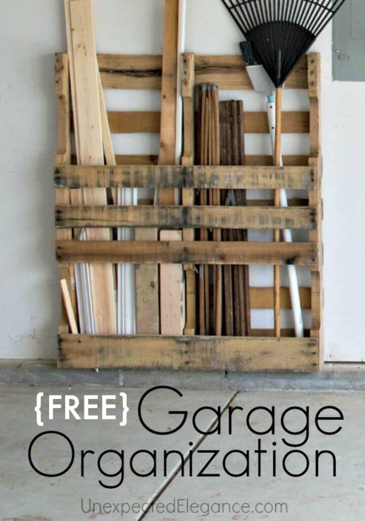 Easy DIY Pallet Garage Storage Tutorial