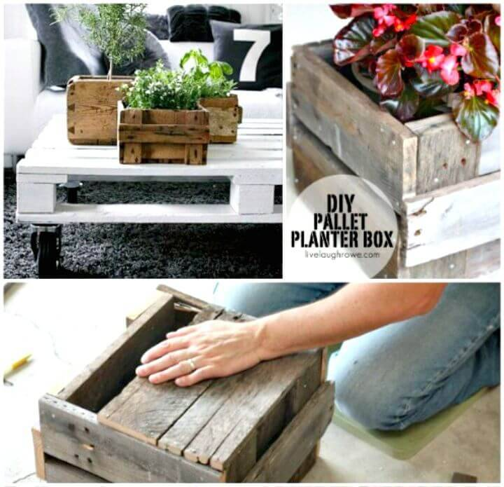 Easy DIY Pallet Planter Box Tutorial