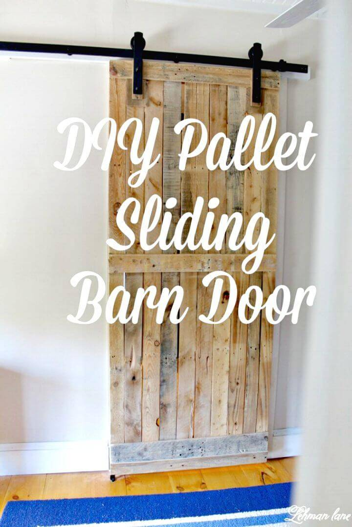 Easy DIY Pallet Sliding Barn Door Tutorial