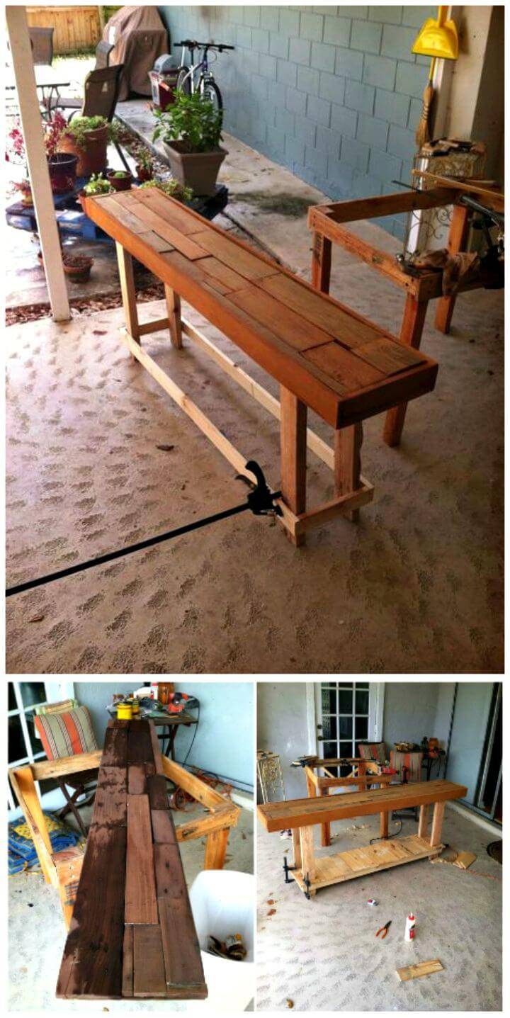 Easy DIY Pallet Sofa Table Step By Step Tutorial