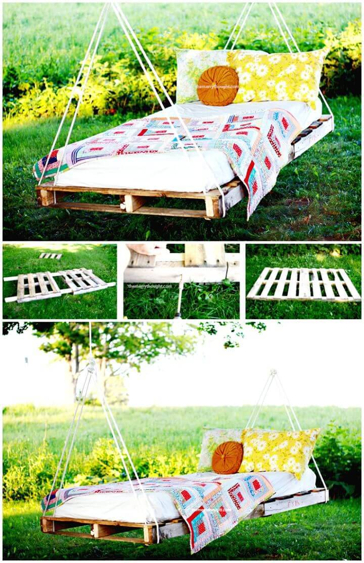 Easy DIY Pallet Swing Bed Tutorial