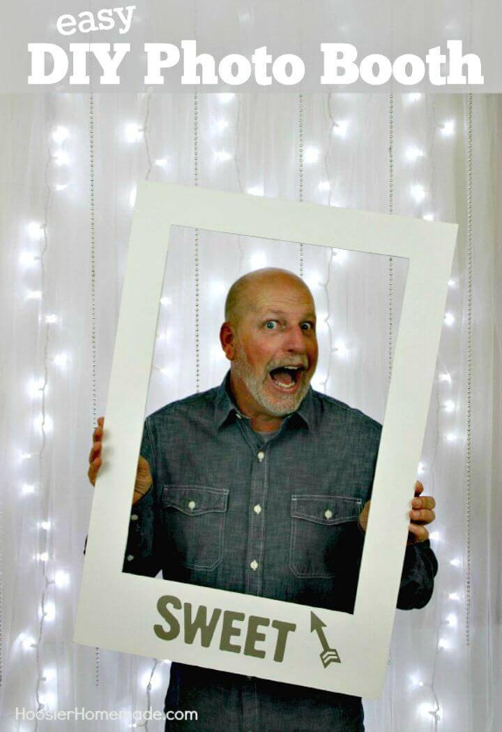 Easy How To Make A Photo Booth Idea