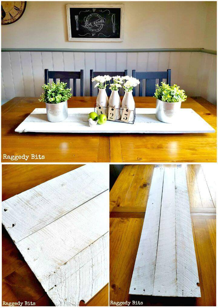 Easy How to DIY Rustic Farmhouse Pallet Table Runner Tutorial